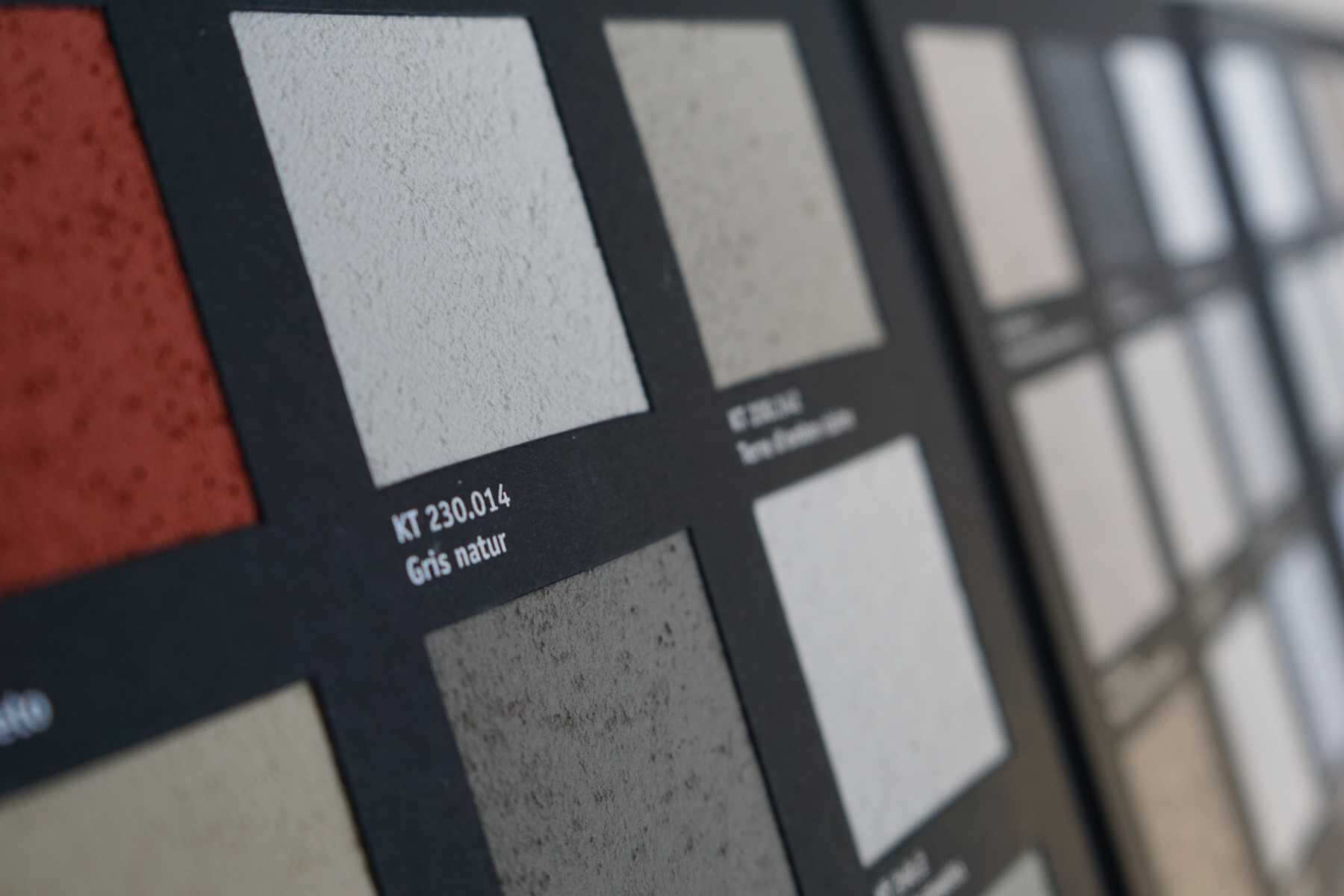 kt.COLOR Pigmentkalk Farbmusterkarte