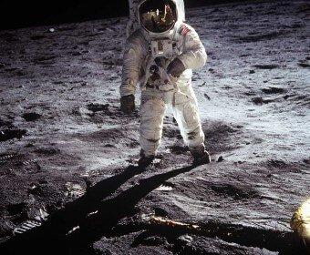 Streulicht: Aldrin auf dem Mond