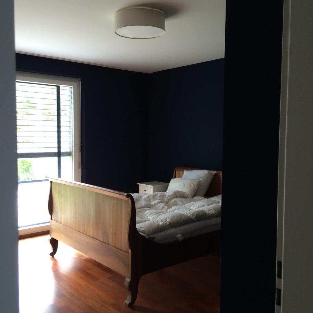 Schlafzimmer in noir turquoise 85 – dann ward es nacht… – david braun