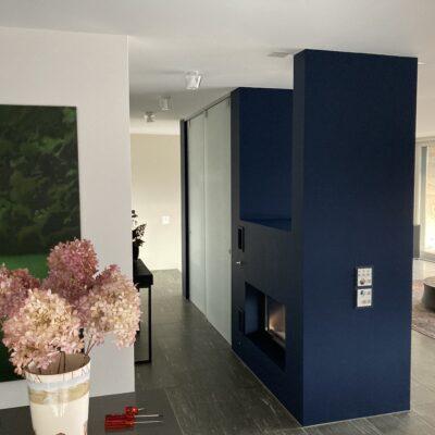 Cheminée-Block in 12.048 Noir Turquoise 85