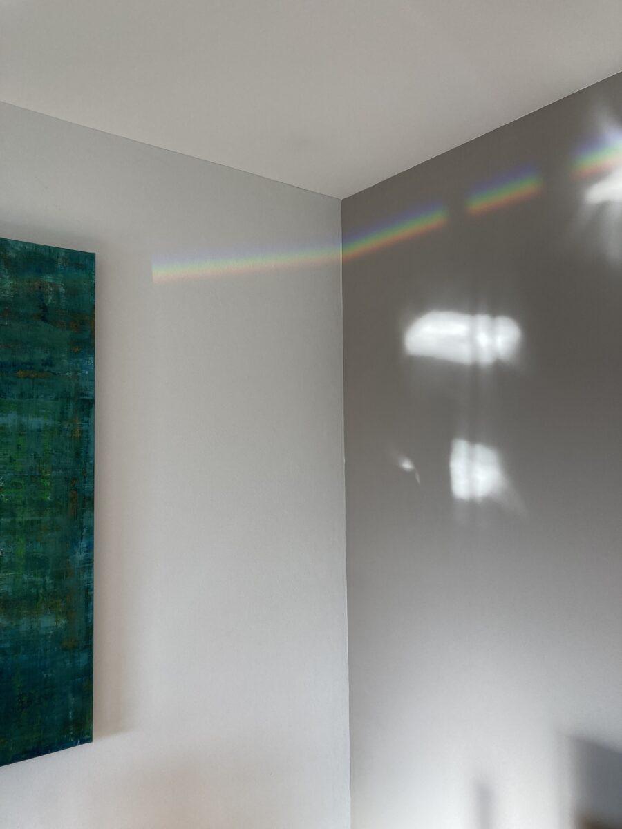 Lichtbrechung im Raum